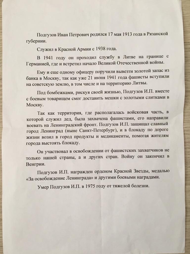 Подгузов Иван Петрович